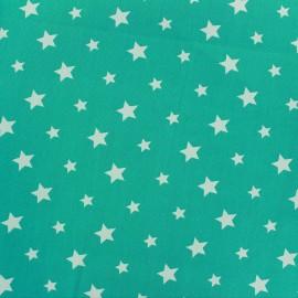 Tissu coton Stars bicolore - brume/mer du sud x 10cm