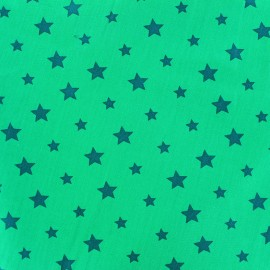Tissu coton Stars bicolore - bleu canard/aqua x 10cm
