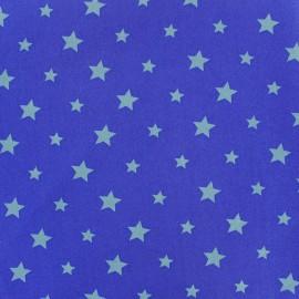 Tissu coton Stars bicolore - bleu/marine x 10cm