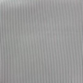 Tissu coton Mini Rayures Bicolore - brume/anthracite x 10cm