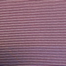 ♥ Coupon 260 cm X 150 cm ♥ Tissu coton Mini Rayures horizontales sur laize Bicolore - violet/mauve