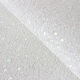 Tissu Glitter Fiesta glass blanc x10cm