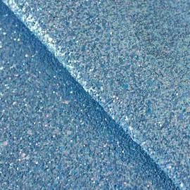 Tissu Glitter Fiesta glass océan x10cm