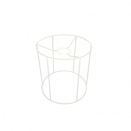 Cylinder-shaped lampshade frame 20 cm - white