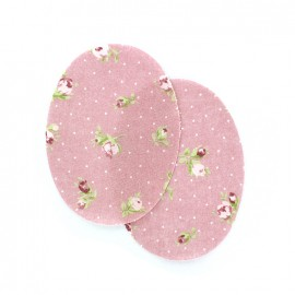 Coudières fleurs pivoines - rose (la paire)
