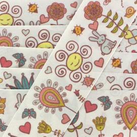 Ruban taffetas satiné Sweet Spring x 50cm