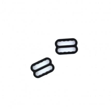 Barrette de réglage de soutien gorge plastique (la paire) - noir