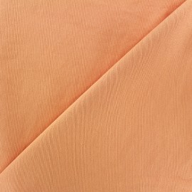 ♥ Coupon 100 cm X 140 cm ♥ Tissu Gabardine Lycra mat v.2 - orange clair