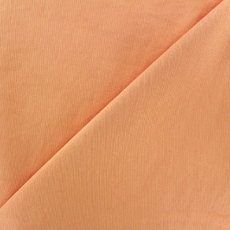 Mat Lycra Gabardine Fabric V2 - light orange x 10cm