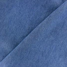 Plain chambray jeans fabric - blue x 10cm