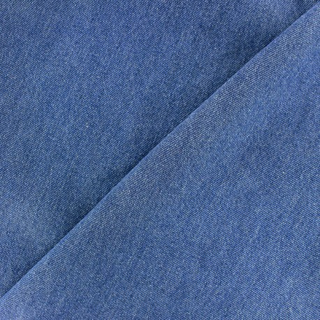 Plain chambray jeans fabric - blue x 10cm