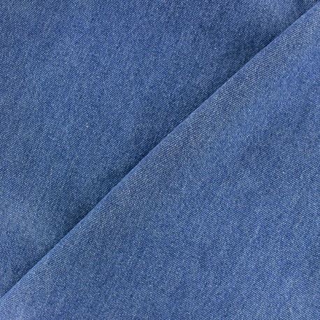 Tissu Jeans chambray uni - bleu x 10cm