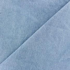Tissu Jeans chambray uni - bleu clair x 10cm