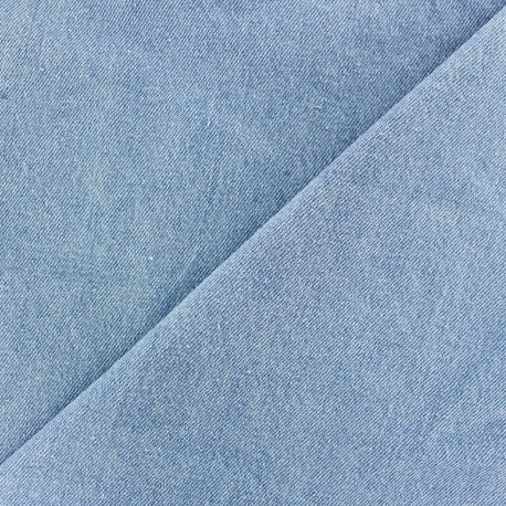 Plain chambray jeans fabric - light blue x 10cm