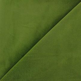 Tissu Velours ras Bradford - vert mousse x 10cm