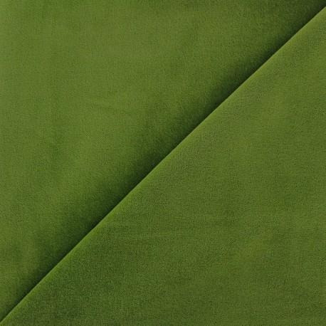 Short velvet fabric Bradford - moss green x 10cm