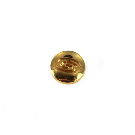 Polyester button graphic - gold