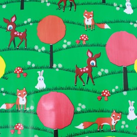 Oilcloth fabric - Happy Valley x 40cm
