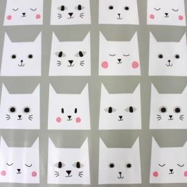 Tissu toile cirée - Cats x 51cm