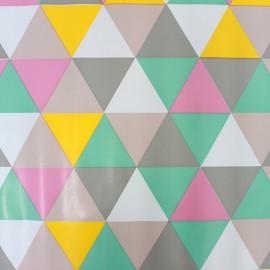 Tissu toile cirée - Triangles x 25cm