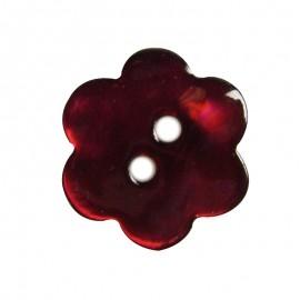 Bouton nacre fleur cerise