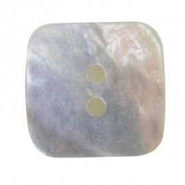Button, mother-of-pearl square-shaped- natural