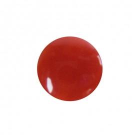Bouton aspect nacré rond rouge