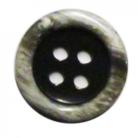 Horn imitation button - grey