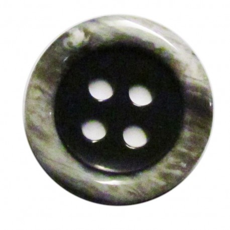 Bouton imitation corne gris