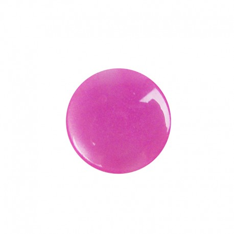 Pearly-aspect round-shaped button - fuchsia