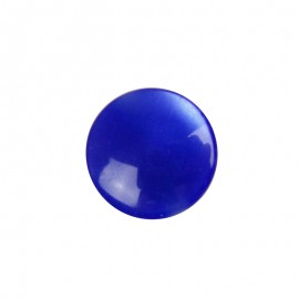 Pearly-aspect round-shaped button - blue