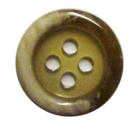 Horn imitation button - beige