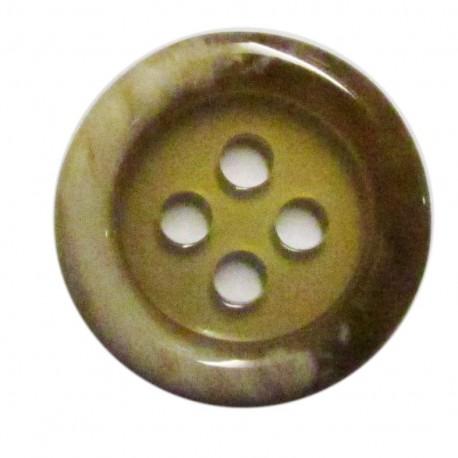 Bouton imitation corne beige