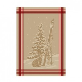 French Tea towel linen / red stripes - Everest