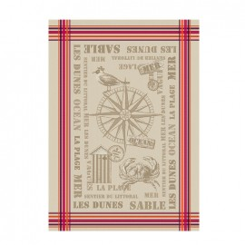 French Tea towel Bayonne - L'Océan