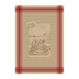 ♥ French Tea towel linen / red stripes -  Amitié ♥