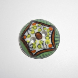 Porcelain button - multicolored