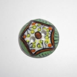 Porcelain button - multicolored