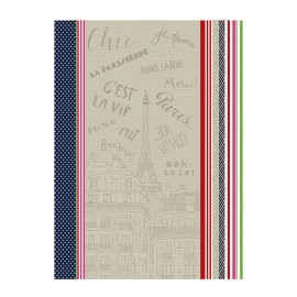 French Tea towel Multico - Bonjour Paris
