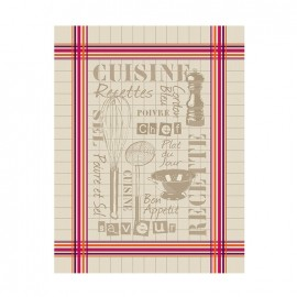 French Tea towel Bayonne - La cuisine