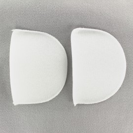 Straight Shoulder pad covered (x2) – white