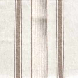 Tissu toile lin Lilly - blanc/naturel x 10cm