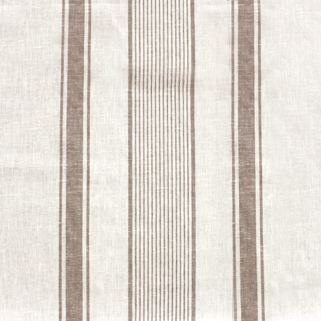 Linen canvas fabric Lilly - white/natural x 10cm