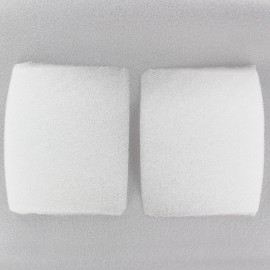 Straight uncovered Shoulder pad (x2) - white