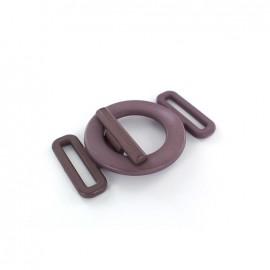 Boucle ceinture ronde lavande