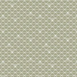 Tissu Jersey Triangle - lichen glacé x 10 cm