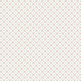Tissu Jersey Tormentille - rose glacé x 10 cm
