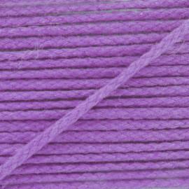 Cotton cord, color-fast - mauve