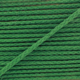 Cotton cord, color-fast - meadow green