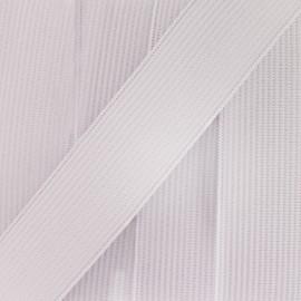 Woven flat elastic 15 mm - white